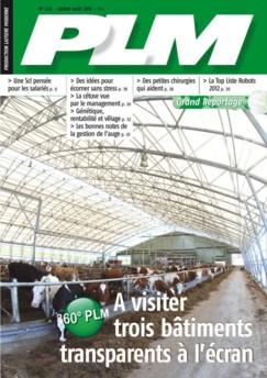 couverture du magazine de production laitière PLM juillet 2012