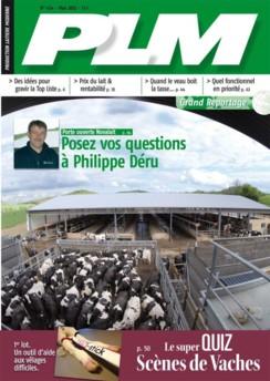 couverture de juin du magazine de production laitière PLM