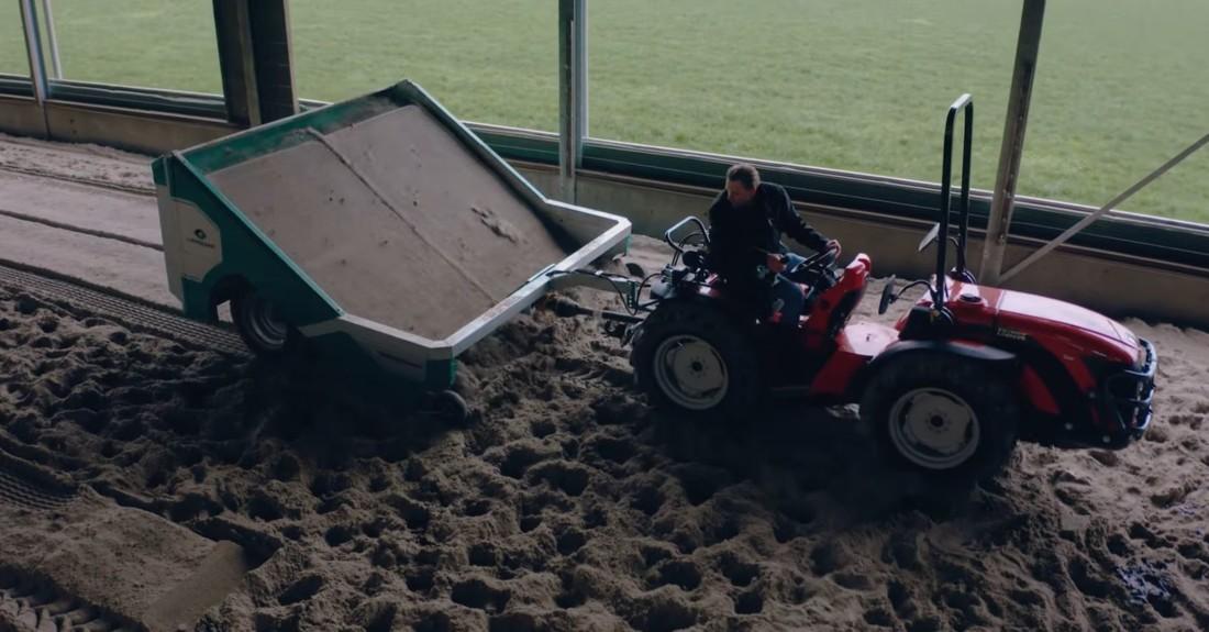 BeddingCleaner avec une litière sable.